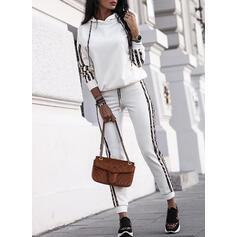 縞模様の 印刷 カジュアル スポーティー drawstring ツーピースの服