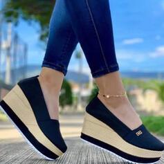 Dla kobiet Material Tkanina mesh Obcas Koturnowy Sandały Koturny Otwarty Nosek Buta Obcasy Z Jednolity kolor obuwie