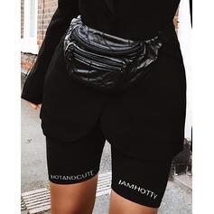 Letra Color sólido Shorts deportivos