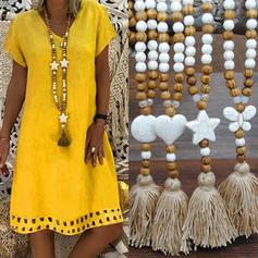 De moda Los granos de madera con Borlas De mujer Collares