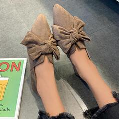 Femmes Tissu Talon plat Chaussures plates Glisser sur avec Couleur unie chaussures