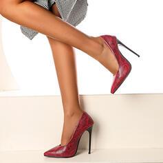 De mujer PU Tacón stilettos Salón con Estampado de animales zapatos