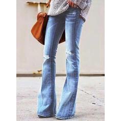 Podarte Długo Nieformalny Długi Dżinsowa Spodnie