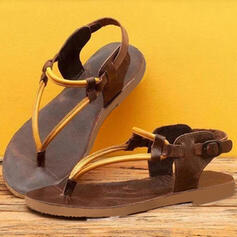 De mujer Tacón plano Sandalias Chancletas con Hebilla zapatos