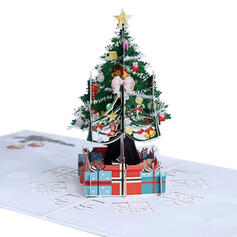 Christmas Colourful Multi-functional Delicate Christmas Christmas Tree Card Paper Greeting Cards (Sold in a single piece)