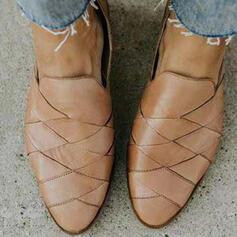 Γυναίκες PU Επίπεδη φτέρνα Διαμερίσματα Με Δικτυωτός παπούτσια