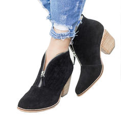 De mujer PU Tacón ancho Salón con Cremallera zapatos