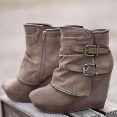 De mujer Ante Tipo de tacón Botas con Cremallera zapatos