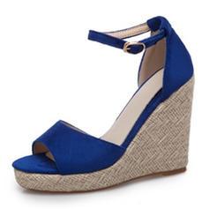 De mujer Ante Tipo de tacón Sandalias Encaje con Hebilla zapatos