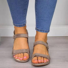 PU Fară Toc Sandale Balerini Puţin decupat în faţă cu Cataramă pantofi