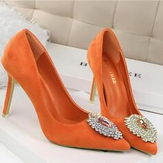 De mujer Terciopelo Tacón stilettos Salón Cerrados con Rhinestone Otros zapatos