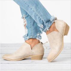 Frauen Stoff Niederiger Absatz Flache Schuhe Stiefel mit Andere Schuhe