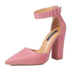 De mujer Ante Tacón ancho Salón con Hebilla zapatos