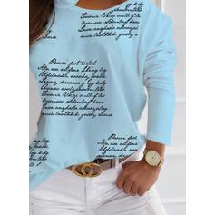 Stampa Figura Una spalla Maniche lunghe Casuale Camicie