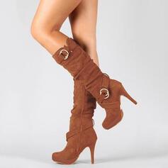 De mujer Ante Salón Botas con Cremallera zapatos