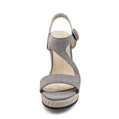 Piele de Căprioară Platforme Înalte Încălţăminte cu Toc Înalt Platformă Platforme Puţin decupat în faţă Borsete cu Cataramă pantofi