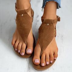 De mujer Ante Tacón plano Sandalias Chancletas Pantuflas con Hebilla Flor zapatos