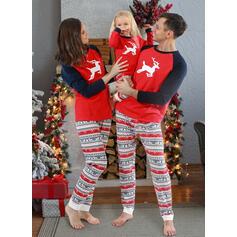 Soby Color Block Rodinné odpovídající Vánoční pyžama