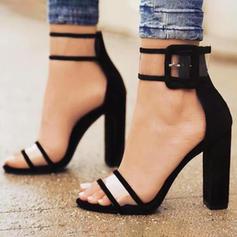 De mujer Tejido Tacón stilettos Sandalias Salón con Hebilla zapatos