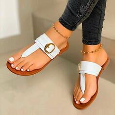 Pentru Femei PU Fară Toc Sandale Şlapi între degete Şlapi cu De la gât înafară pantofi