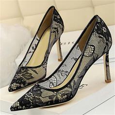 De mujer Encaje Tacón stilettos Salón con Cordones zapatos