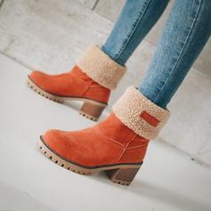 De mujer Ante Tacón ancho Botas longitud media con Otros zapatos
