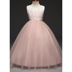 Fete Guler Rotund Dantelă Drăguţ Domnişoară de Flori rochie