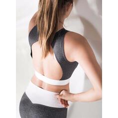 Cuello Redondo Sin mangas Bloque de color Leggings deportivos Sujetadores deportivos