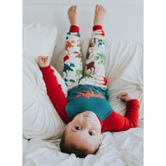 Colore-Block Cervo Famiglia Partita Di Natale Pajamas