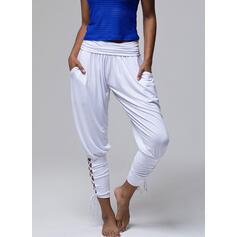 Sólido Largo Casual Sólido Deportivo Pantalones