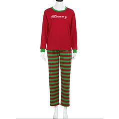 Literă Imprimeu De Familie Pijamale De Crăciun