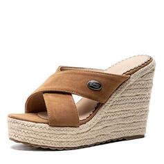De mujer Ante Tipo de tacón Sandalias Cuñas Pantuflas zapatos
