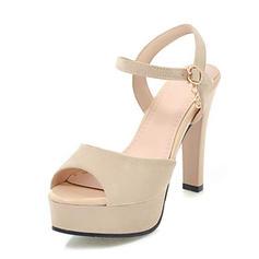 De mujer Ante Tacón stilettos Sandalias Salón Plataforma Encaje Solo correa con Hebilla zapatos