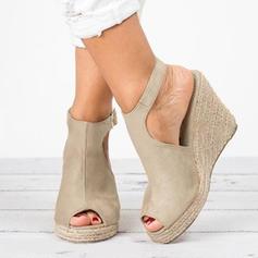 Mulheres Camurça Plataforma Calços com Outros sapatos