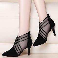 De mujer PU Tacón stilettos Salón con Correa Trenzada zapatos