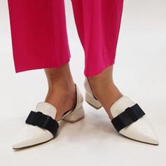 Dla kobiet PU Obcas Slupek Spiczasty palec u nogi Z Kokarda obuwie
