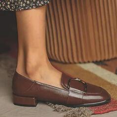 De mujer PU Tacón ancho Salón Tacones con Color sólido zapatos