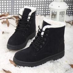 De mujer Ante Tacón bajo Botas de nieve con Cordones zapatos