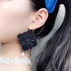 Lysande Legering Spets Damer' Mode örhängen