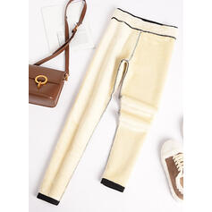 Pevný Bavlna Dlouho Neformální Plus velikost Kalhoty Legíny