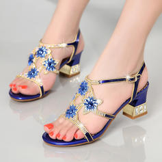 De mujer Piel Tacón stilettos Sandalias Salón con Apliques Flor zapatos