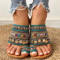 De mujer Tacón plano Sandalias con Lentejuelas zapatos