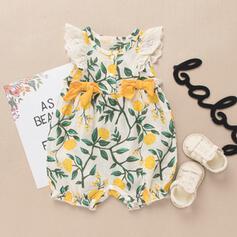 ベビー女の子 フローラル 印刷 コットン ドレス
