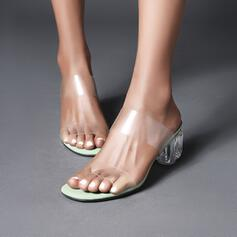 De mujer plástica Tacón ancho Salón zapatos