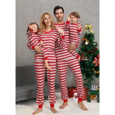 Rand Matchande familj Jul Pyjamas