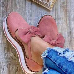 Καστόρι Επίπεδη φτέρνα Διαμερίσματα Στρογγυλά παπούτσια Με Bowknot παπούτσια
