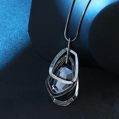 Stylish Alloy Rhinestones Glass With Rhinestone Women's Necklaces (Sold in a single piece)