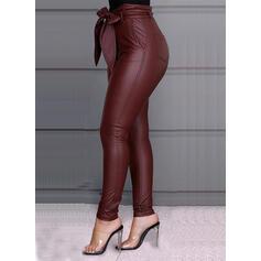 Nášivky Plus velikost Vázanka Dlouho Elegantní Sexy Kůže Kalhoty