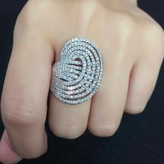 Ζιρκονίτης Με Ζιρκονίτης Για Γυναίκες Δαχτυλίδια μόδας (Πωλείται σε ένα κομμάτι)