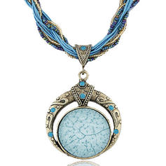 Estilo de la vendimia Aleación Resina Perlas De mujer Collares